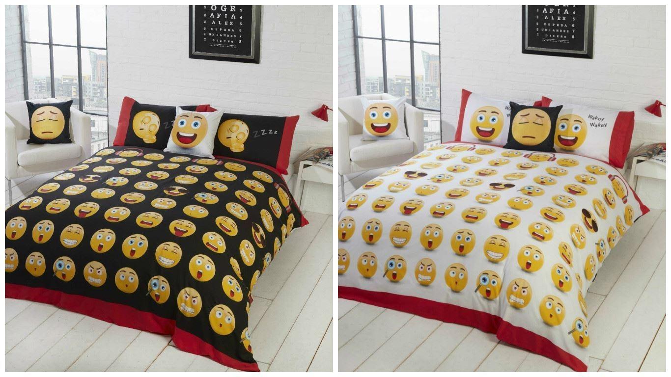 Emoji smiley lits jumeaux dekbedovertrek lits jumeaux
