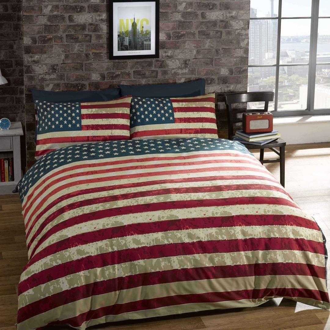 New york city dekbedovertrek 1 New york city amerikaanse vlag dekbedovertrek 1